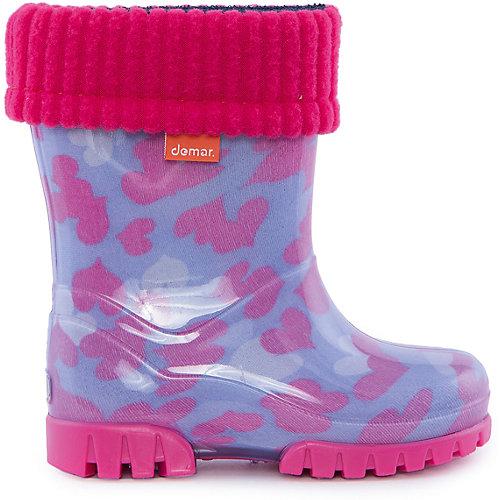 Резиновые сапоги со съемным носком Demar Twister Lux Print - pink/blau от Demar