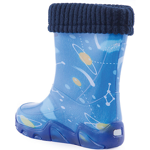 """Резиновые сапоги со съемным носком Demar Stormer Lux Print """"Космос"""" - синий от Demar"""