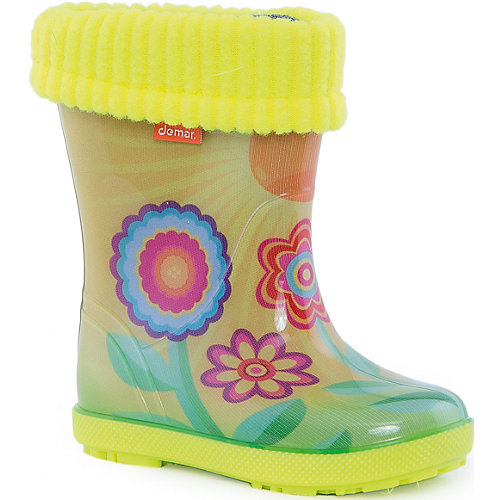 Резиновые сапоги со съемным носком Demar Hawai Lux Exclusive - gelb/grün от Demar