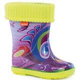 """Резиновые сапоги со съемным носком Demar Hawai Lux Print """"Хиппи"""""""