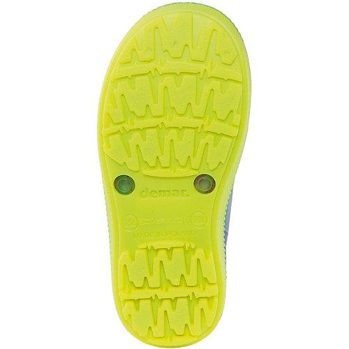 """Резиновые сапоги со съемным носком Demar Hawai Lux Print """"Хиппи"""" - сине-жёлтый от Demar"""