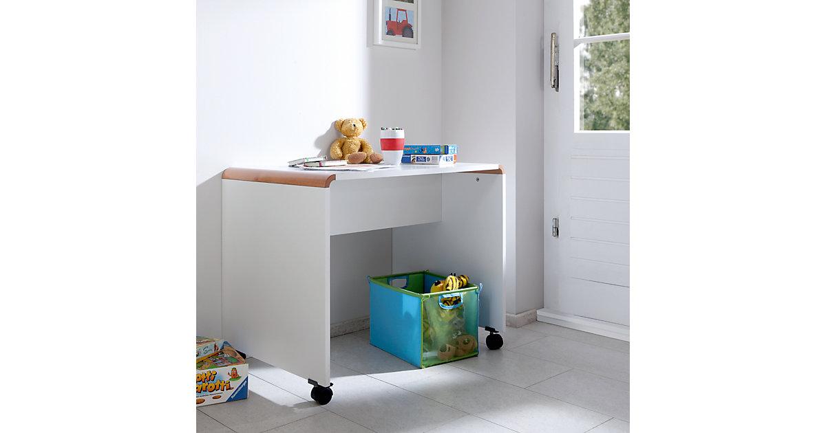 RELITA · Schreibtisch SAM, Buche massiv, weiß / braun