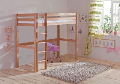 Etagenbett Für Baby Und Kleinkind : Etagenbett jamie rot blau inkl vorhang kiefer massiv weiß in