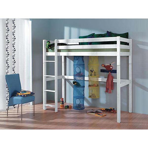 hochbett toli 90 x 200 inkl rollrost buche massiv wei lackiert relita mytoys. Black Bedroom Furniture Sets. Home Design Ideas