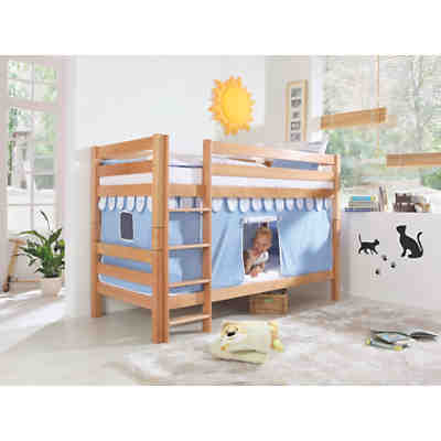 vorhangset f r spielbett eliyas und alex ohne rutsche blau rot relita mytoys. Black Bedroom Furniture Sets. Home Design Ideas