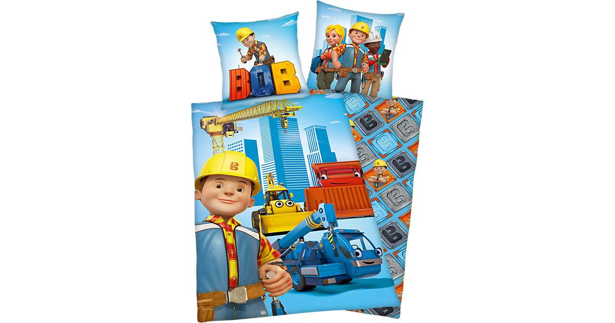 Wende- Kinderbettwäsche Bob der Baumeister, Renforcé, 135 x 200 cm