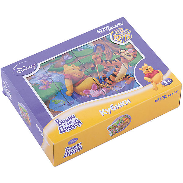 "Кубики ""Винни Пух"", 12 шт, Step Puzzle"