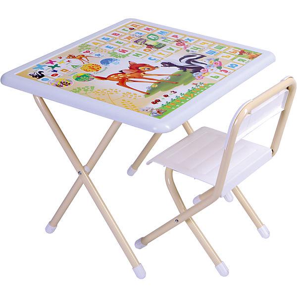 Набор мебели Дэми Бэмби (1,5-7 лет), бежевый/белый