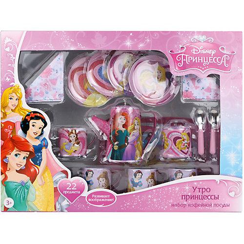 """Набор кофейной посуды """"Утро принцессы"""" (22 предм., металл.), Принцессы Дисней от Disney"""