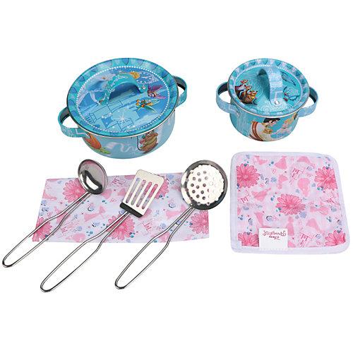 """Набор кухонной посуды """"Прекрасная принцесса"""" (9 предм., металл.), Принцессы Дисней от Disney"""