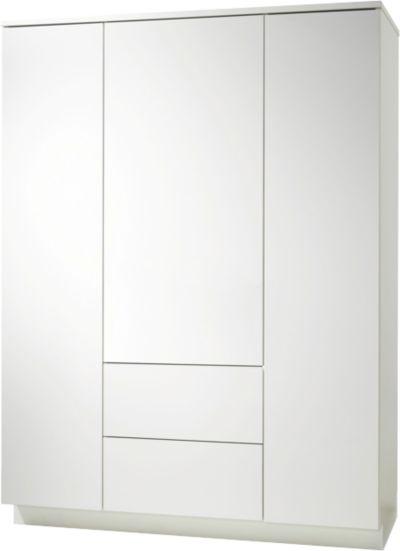 Kleiderschrank weiß hochglanz 3 türig  Kleiderschrank POLAR, 2-türig, weiß edelmatt, Pinolino | myToys