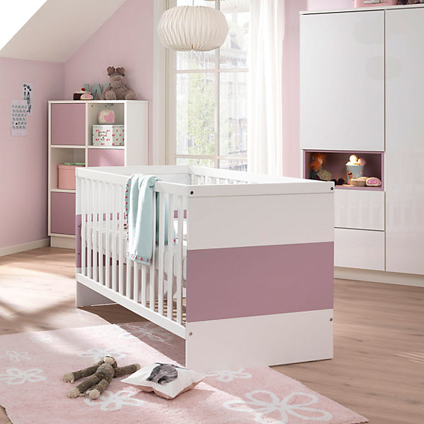 kinderbett malie kristallwei hochglanz ros wellem bel mytoys. Black Bedroom Furniture Sets. Home Design Ideas