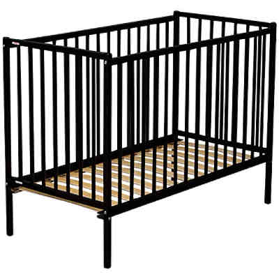 babybett remi buche massiv 60 x 120 cm schwarz combelle mytoys. Black Bedroom Furniture Sets. Home Design Ideas