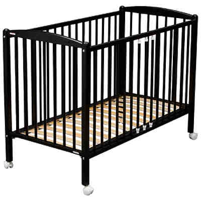 babybett remi buche massiv 60 x 120 cm schwarz combelle mytoys. Black Bedroom Furniture Sets. Home Design Ideas