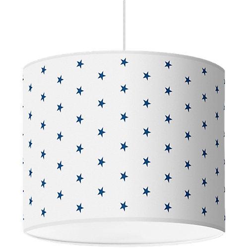 Lampenschirm Sterne, dunkelblau-weiß, Ø40cm Sale Angebote Nievern