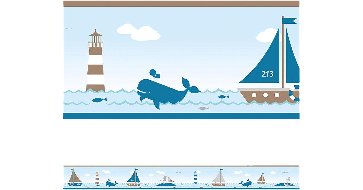 Bordüre Sailing, taupe, 4,5 m x 11,5 cm
