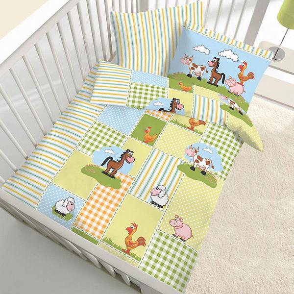 Kinderbettwasche Tiere Renforce Grun 100 X 135 Cm