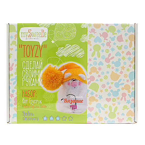 "Набор для вязания Toyzy ""Кот Грустик"" от TOYZY"