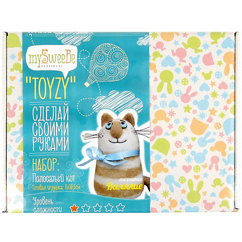 """Набор для валяния Toyzy """"Полосатый кот"""" от TOYZY"""