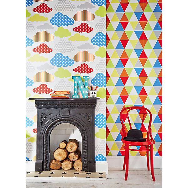 tapete wolken bunt 10 m x 53 cm decofun mytoys. Black Bedroom Furniture Sets. Home Design Ideas