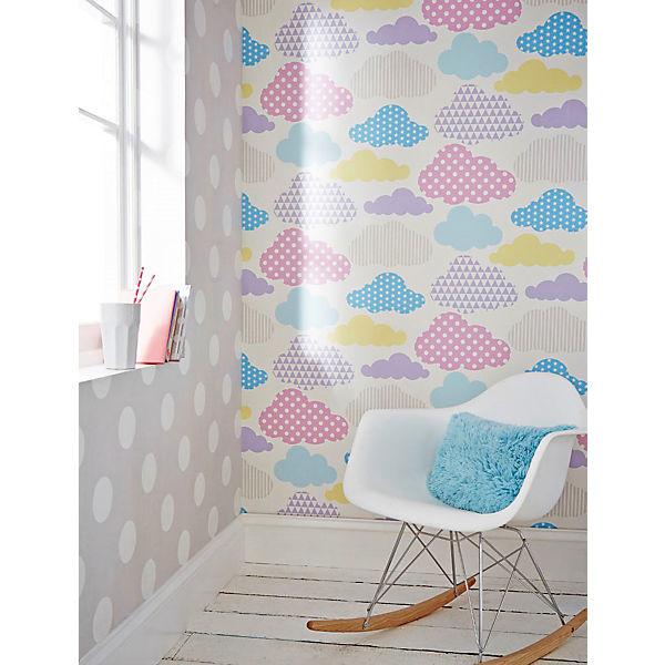 tapete wolken pastellfarben 10 m x 53 cm decofun mytoys. Black Bedroom Furniture Sets. Home Design Ideas
