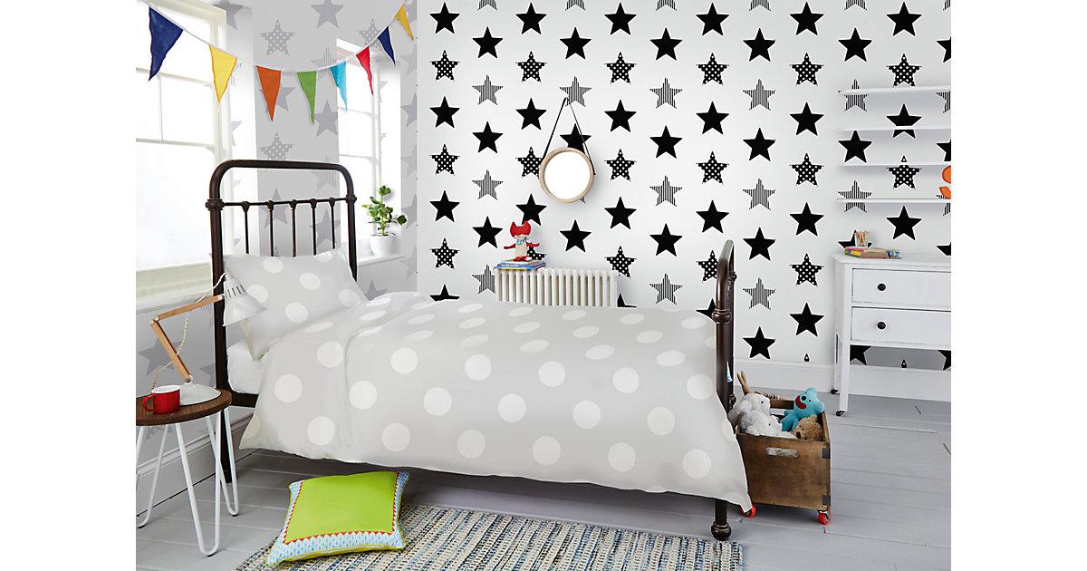 Tapete Sterne schwarz, 10 m x 53 cm