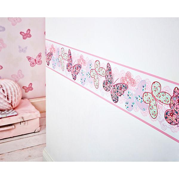 Bordüre Schmetterlinge, 15,6 cm x 5 m, Decofun | myToys