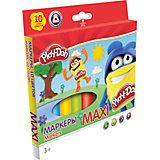 """Фломастеры Darpeje """"Play-Doh"""" """"Maxi"""", 10 цветов"""