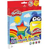 Масляная пастель (24 цвета) с раскрасками (2 шт), Play-Doh