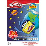 Цветной картон 16 цветов, Play-Doh
