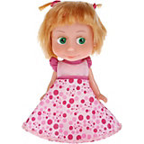 Кукла Карапуз Маша и Медведь Маша в платье для Дня рождения, озвученная, 15 см