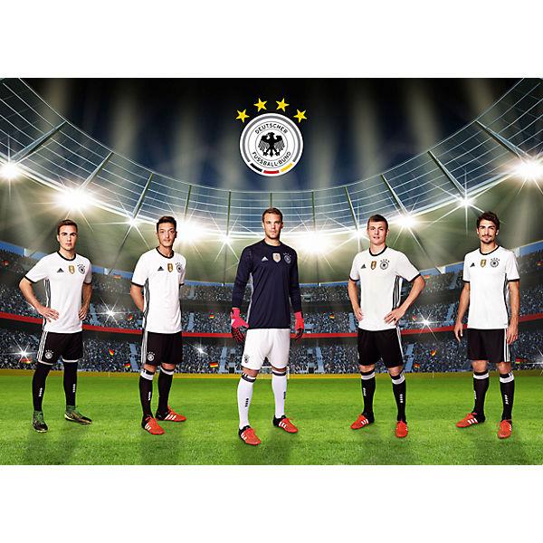 Fototapete Unsere Mannschaft, selbstklebend, 350 x 250 cm, Deutscher  Fußball-Bund