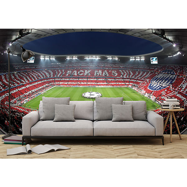 fototapete fcb stadion choreo pack ma s 350 x 250 cm. Black Bedroom Furniture Sets. Home Design Ideas