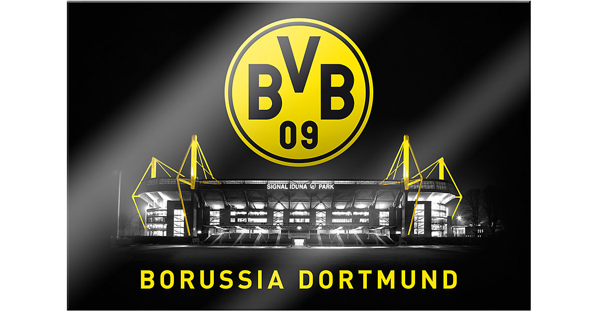 Wandbild BVB Signal Iduna Park bei Nacht, Acryl...
