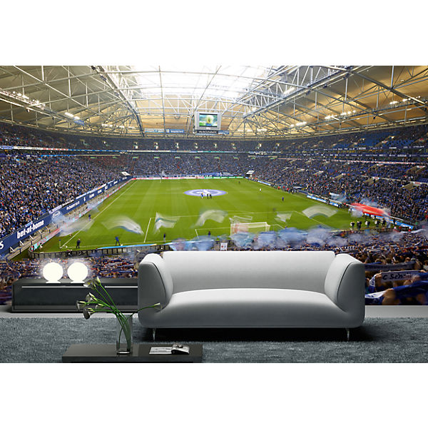 fototapete fc schalke 04 arena 350 x 250 cm fu ballverein fc schalke 04 mytoys. Black Bedroom Furniture Sets. Home Design Ideas
