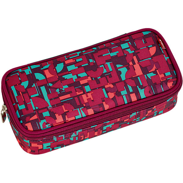 Pencil Case mit Geodreieck Geometric Red