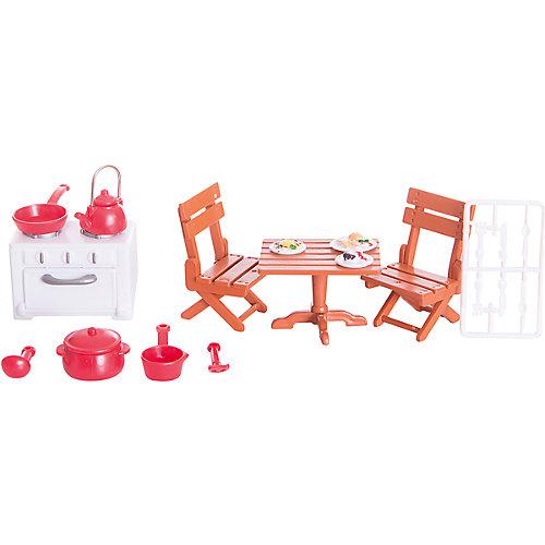 Набор мебели для гостиной № 2, с аксессурами, Счастливые друзья, ABtoys от ABtoys