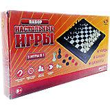 """Набор игр 3 в 1 """"Шахматы, шашки, нарды магнитные"""", в коробке, ABtoys"""