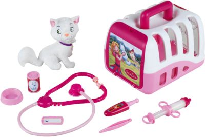 Princess Coralie vet´s kit with cat and access.