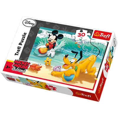 Puzzle - 30 Teile - Micky und Pluto am Strand