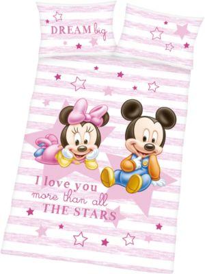 Disney Minnie Maus Baby Bettwäsche 100 x 135 cm für Mädchen Baby