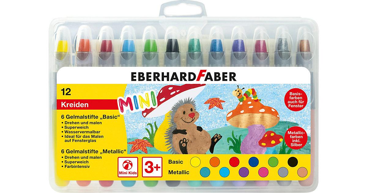 Mini Kids Gelmalstifte/Fenstermaler im Etui Basic&Metallic, 12 Farben