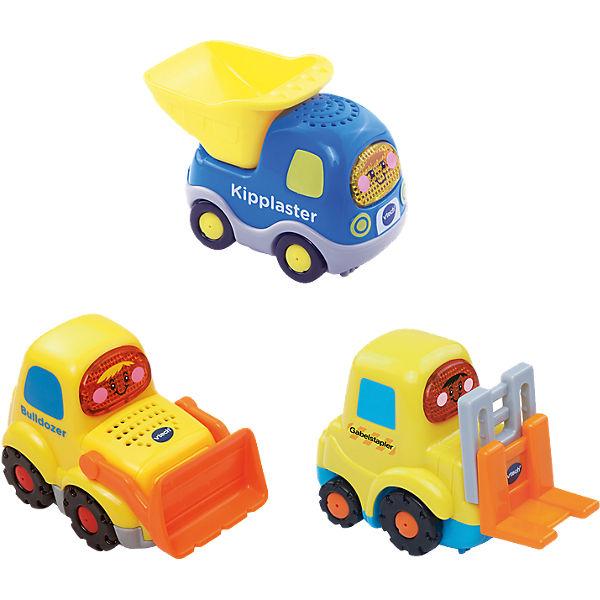 Tut Tut Baby Flitzer - 3 Set Bulldozer, Kipplaster und Gabelstapler, Tut Tut Flitzer