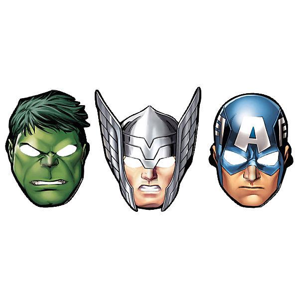masken avengers 8 st ck marvel avengers mytoys. Black Bedroom Furniture Sets. Home Design Ideas