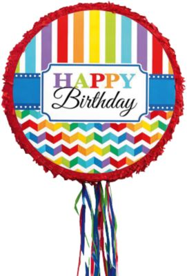 Pinata Pull Bright Birthday