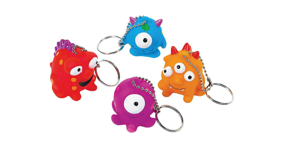 Schlüsselanhänger Lustige Monster, 4 Stück