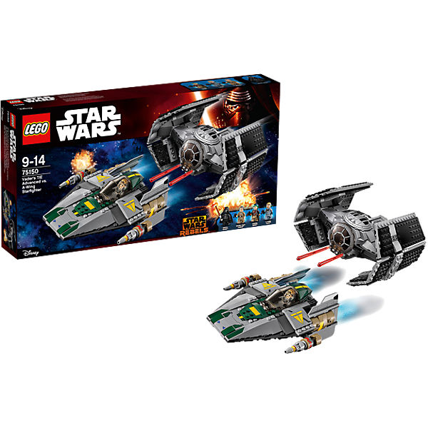 LEGO 75150 Star Wars: Vader's TIE Advanced vs. A-W..