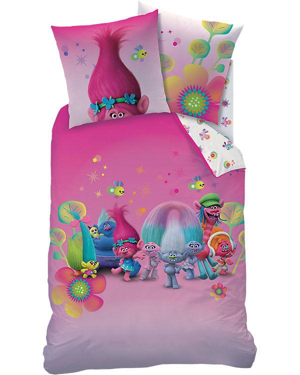 kinderbettw sche trolls group linon 135 x 200 cm trolls. Black Bedroom Furniture Sets. Home Design Ideas