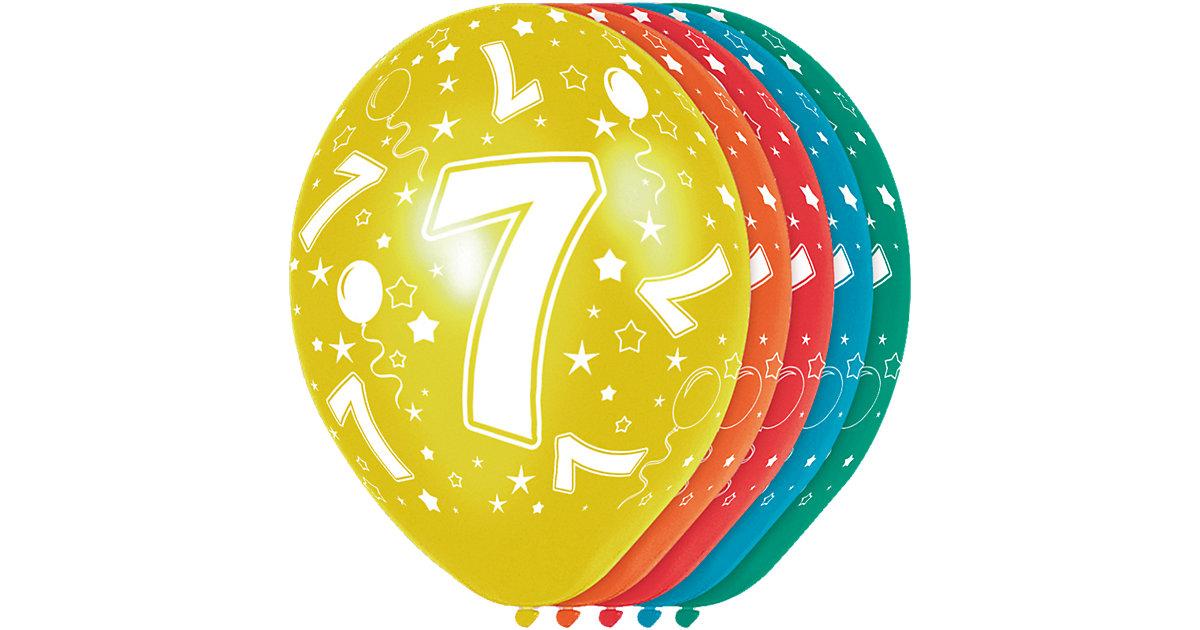 Zahlenluftballon 7, 5 Stück