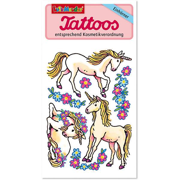 Tattooset Einhorn, 4 Bögen, Lutz Mauder Verlag